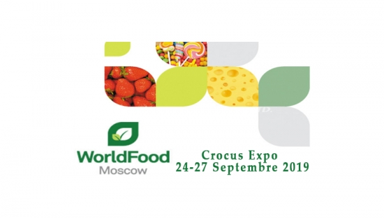 28ème édition du Salon International des Aliments et des Boissons « World Food Moscow »du 24 au 27 Septembre 2019.