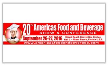 الصالون الدولي للصناعات الغذائية  « AMERICA'S FOOD & BEVERAGE SHOW » من 26 إلى 27 سبتمبر 2016-